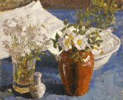 Harold Gilman - Still Life With Flowers In a Vase