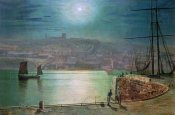 John Atkinson Grimshaw - Whitby Harbour By Moonlight