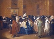 Francesco Guardi - Ladies and Gentlemen In Carnival Costume In The Ridotto, Venice
