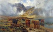 Louis Bosworth Hurt - By Loch Treachlan, Glencoe, Morning Mists