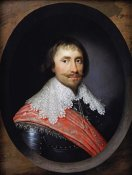 Cornelius Johnson - Portrait of Robert De Vere, The 19th Earl of Oxford