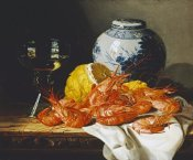 Edward Ladell - Shrimps, a Peeled Lemon, a Glass of Wine
