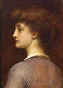 Lord Frederick Leighton - Portrait of a Young Girl