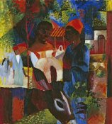 August Macke - A Market In Tunis