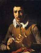 Bartolommeo Manfredi - Youth With a Crab Pinching His Finger