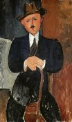 Amedeo Modigliani - Seated Man (Leaning On a Cane)