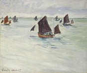 Claude Monet - Fishing Boats off Pourville, 1882