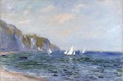 Claude Monet - Cliffs and Sailboats at Pourville