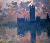 Claude Monet - Parliament, Sunset