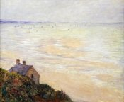 Claude Monet - The Hut at Trouville; Low Tide