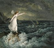 Amelia Jane Murray - A Fairy Waving Her Magic Wand Across a Stormy Sea
