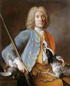 Jean-Baptiste Oudry - Sportsman Holding a Gun With a Hound