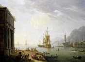 Thomas Patch - A Mediterranean Seaport, With a Triumphal Arch