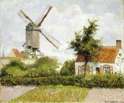 Camille Pissarro - Windmill at Knock, Belgium
