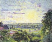 Camille Pissarro - Sunset at Eragny