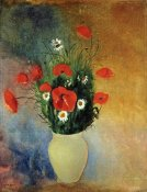 Odilon Redon - Poppies and Daisies