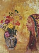 Odilon Redon - Profile of a Woman