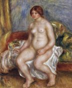 Pierre-Auguste Renoir - Nude Woman On Green Cushions