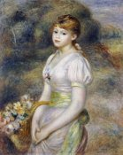 Pierre-Auguste Renoir - Young Girl With a Basket of Flowers