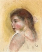Pierre-Auguste Renoir - Head of a Young Girl In Profile