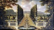 Robert Robinson - An Imaginary View of The Gardens of a Mansion