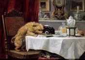 Henriette Ronner-Knip - While Masters Away