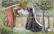 Dante Gabriel Rossetti - Arthur's Tomb: Sir Launcelot Parting From Guenevere