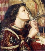 Dante Gabriel Rossetti - Joan of Arc Kissing The Sword of Deliverance
