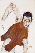 Egon Schiele - Self Portrait In a Jerkin