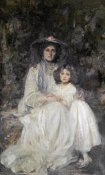 Sir James Jebusa Shannon - Lady Dickson-Poynder and Her Daughter Joan