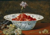 Frans Snyders - Strawberries With a Carnation