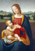 Giovanni Sogliani - Madonna and Child Before a Landscape