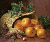 Eloise Harriet Stannard - Still Life With Apples, Hazelnuts and Holly