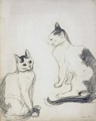 Theophile Steinlen - The Two Cats