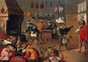 David Teniers II - Les Singes Cuisiniers. The Monkey's Cooks