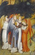 The Master Of The Lindau Lamentation - A Choir of Angels a Fragment, Probably of Nativity