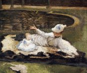 James Jacques Tissot - Mrs Newton With a Child By a Pool