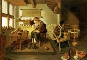 Gerritsz Quiryn Van Brekelenkam - The Interior of a Cobbler's Shop