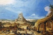 Hendrick Van Cleve III - The Building of The Tower of Babel