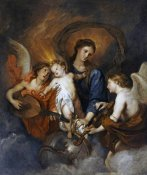 Sir Anthony Van Dyck - The Madonna and Child With Two Musical Angels