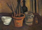 Vincent Van Gogh - Still Life of Paintbrushes In a Flowerpot