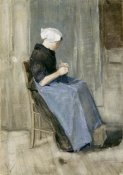 Vincent Van Gogh - A Young Scheveningen Woman Knitting