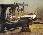 Vincent Van Gogh - Weaver:The Whole Loom, Facing Right