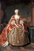 Jean Baptiste Van Loo - Portrait of Augusta, Princess of Wales