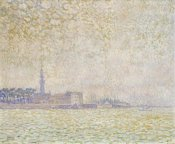 Theo Van Rysselberghe - A View of Veere, Misty Morning