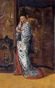 Charles Wirgman - A Japanese Woman In An Interior
