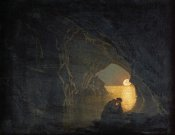 Joseph Wright - A Grotto With The Figure of Julia