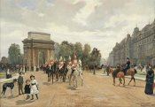 Felippo Baratti - The Life Guards Passing Hyde Park Corner, London