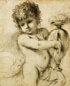 Giovanni Francesco Barbieri - A Putto With a Vase