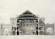 Francois-Joseph Belanger - Cross-Section of The Front Section of The Theatre